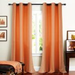 шторы оранжевого цвета интерьер идеи