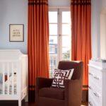 шторы оранжевого цвета оформление идеи