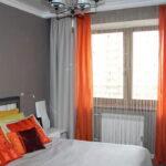 шторы оранжевого цвета идеи оформление