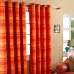 шторы оранжевого цвета идеи оформления