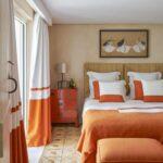 шторы оранжевого цвета варианты фото