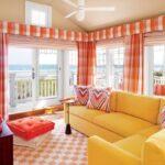 шторы оранжевого цвета фото варианты