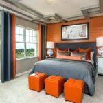 шторы оранжевого цвета варианты идеи