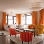 шторы оранжевого цвета фото видов