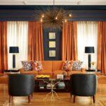 шторы оранжевого цвета идеи виды