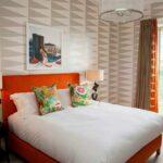 шторы оранжевого цвета виды дизайна