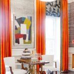 шторы оранжевого цвета дизайн