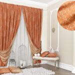 шторы оранжевого цвета дизайн фото