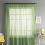 шторы-сетка зеленые