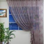 шторы-сетка фиолетовые