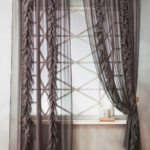 шторы-сетка с рюшами