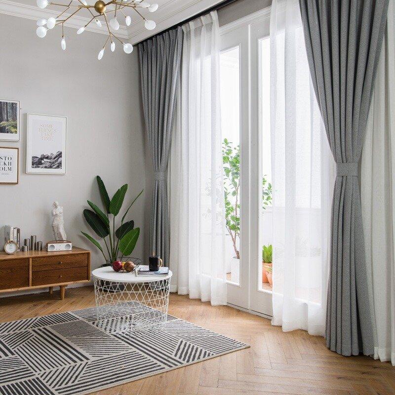 шторы минимализм в зале