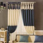 шторы модерн синие с белым