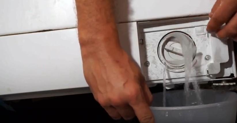 слить воду из стиралки
