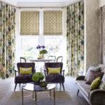 шторы аляпистые в гостиной