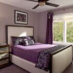 шторы фиолетовые в спальне