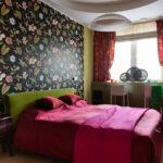 шторы короткие с спальне