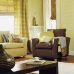 шторы желтые в гостиной