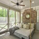 современная подвесная кровать фото декор