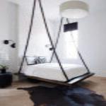 современная подвесная кровать идеи интерьер