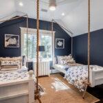 современная подвесная кровать фото оформления