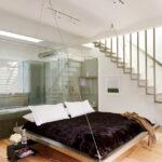 современная подвесная кровать виды декора