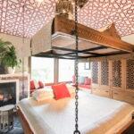 современная подвесная кровать фото дизайн