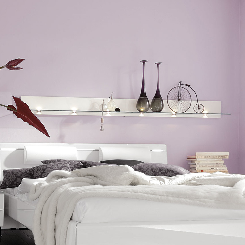 стеклянные полки для спальни