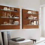 стеклянные полки на стену фото варианты