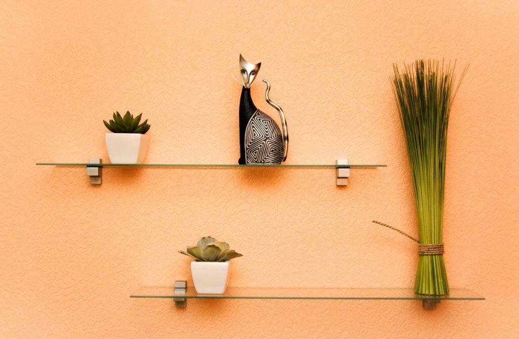 стеклянные полки на стену идеи дизайн