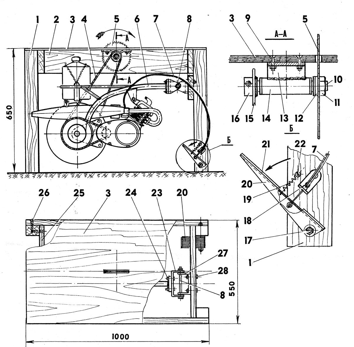 стол для дисковой пилы пример чертежа