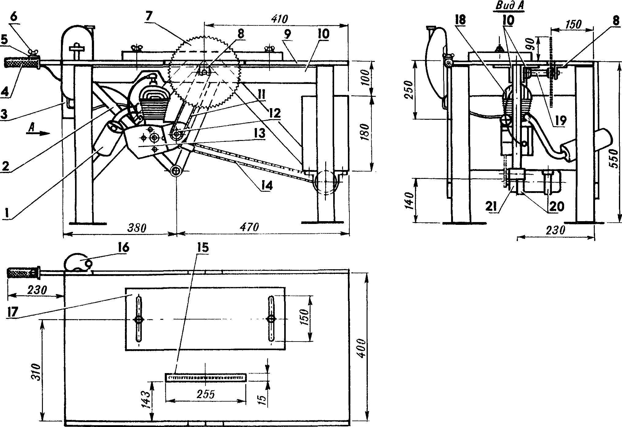 стол для дисковой пилы схема