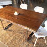 стол из массива дерева идеи декор