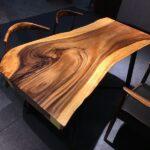стол из массива дерева идеи декора