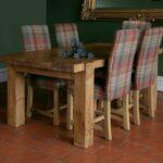 стол из массива дерева фото интерьера