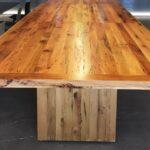 стол из массива дерева фото оформление