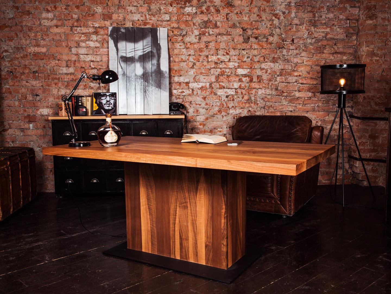стол из массива дерева оформление фото