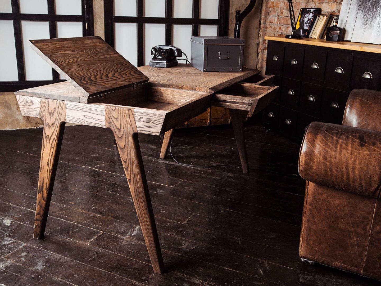 стол из массива дерева оформление