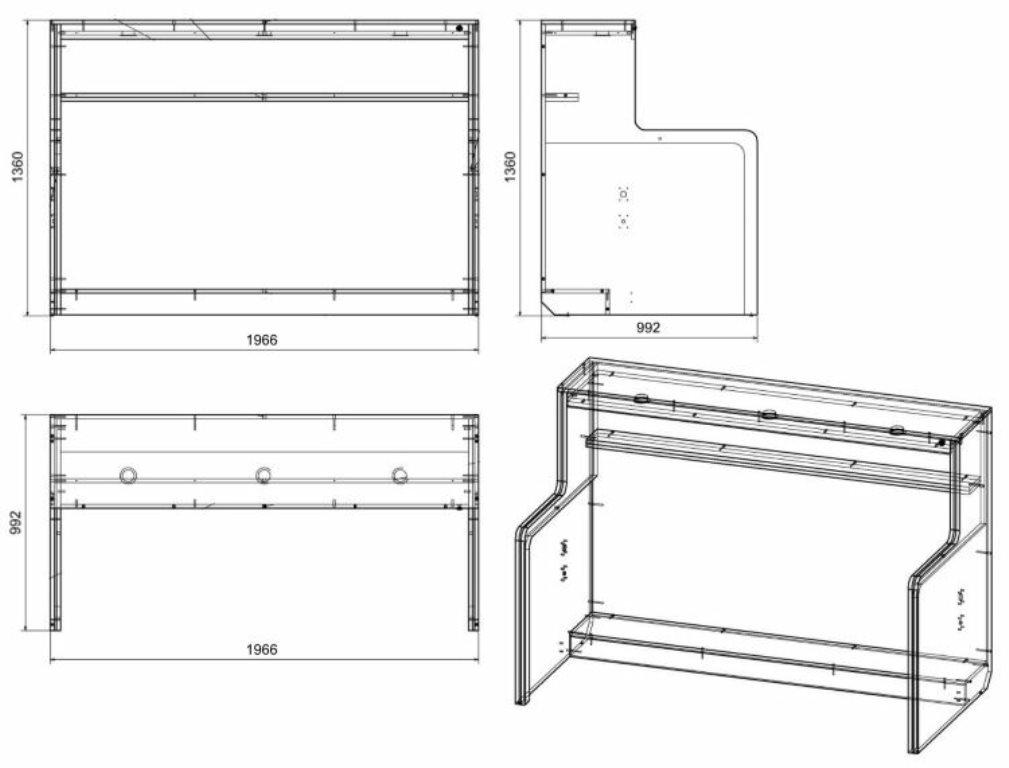 стол кровать чертеж