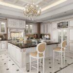 стол остров для кухни интерьер