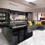 стол остров для кухни оформление фото