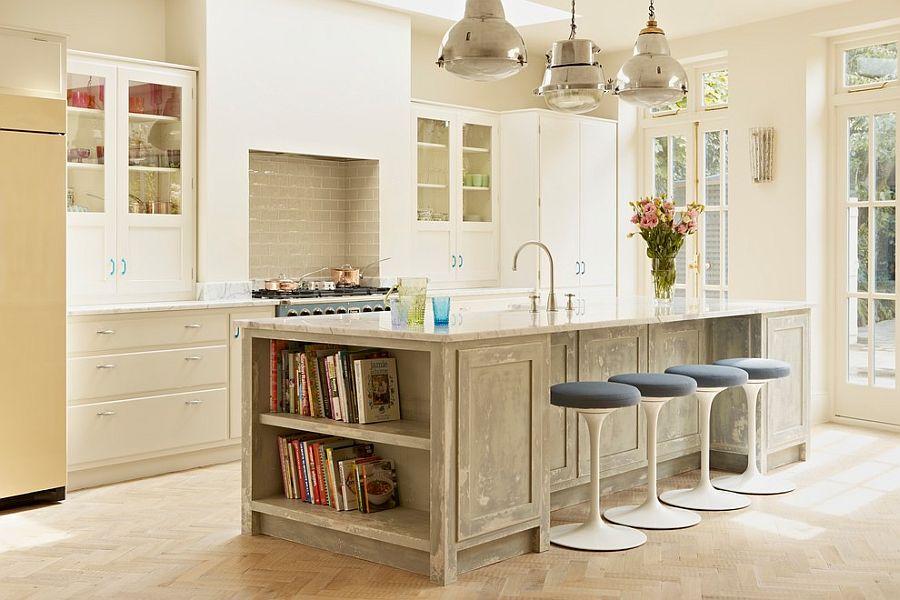 стол остров на кухне фото