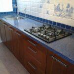 кухонная столешница синяя