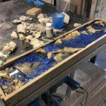 кухонная столешница с камнями
