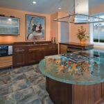 кухонная столешница стеклянная
