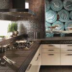 кухонная столешница темно-коричневая