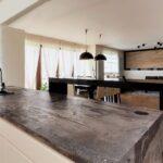 кухонная столешница серая каменная