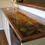 кухонная столешница с листьями