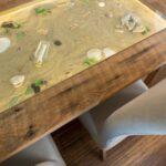 кухонная столешница с песком