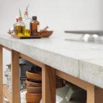 столешница из бетона фото интерьера